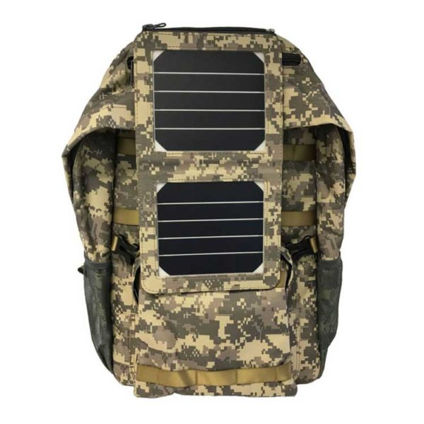 Tactical Color Solar Backpack Back View