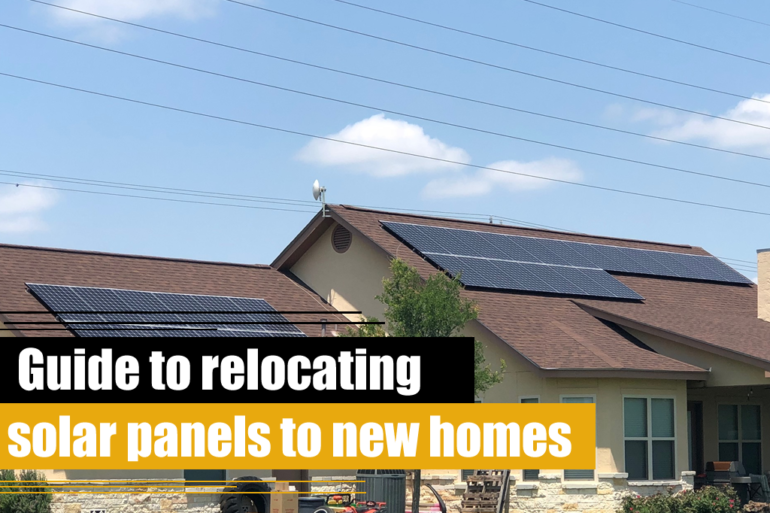 Guide to relocating solar panels to new homes