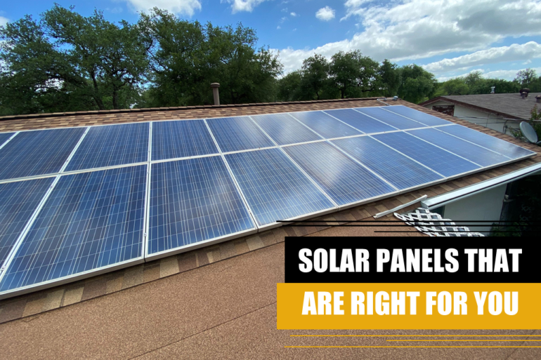 solar panel correct for you
