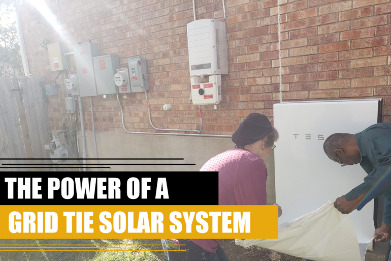 THE POWER OF A GRID TIE SOLAR SYSTEM 1