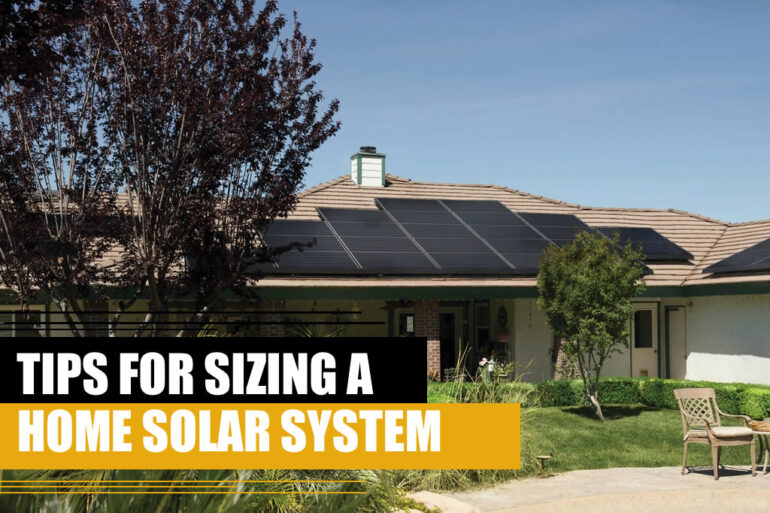 Tips for sizing a home solar system 1