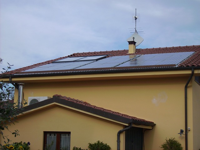 New solar panels installed on a house roof.
